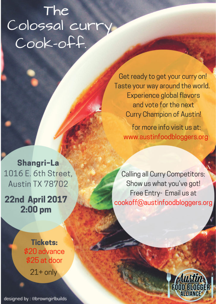 AFBA Event: Colossal Curry Cookoff on Sat, April 22, 2017