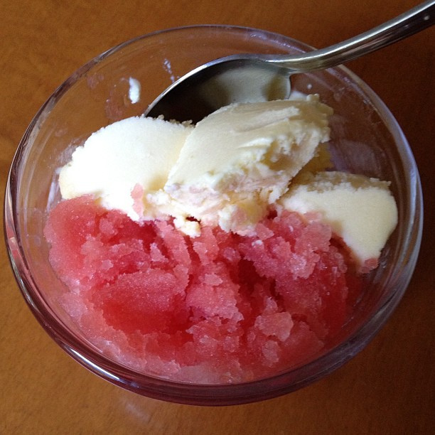 Watermelon Sorbet and Mango Lassie Ice Cream by Mary Makes Dinner